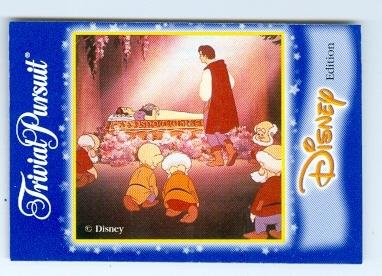 Prince Charming and Snow White trading game card Disney Trivial Pursuit True Loves Kiss ()