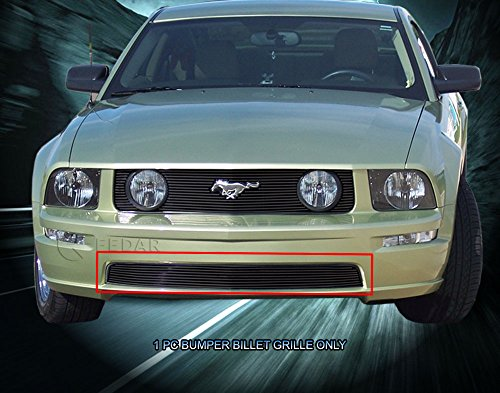 Fedar Lower Bumper Overlay Billet Grille Insert for 2005-2009 Ford Mustang GT V8 -