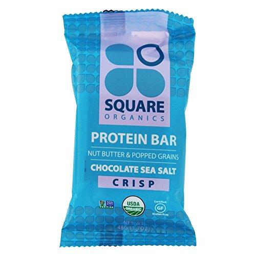 Square Organics - Nut Butter & Popped Grains Protein Bar Chocolate Sea Salt Crisp - 1.7 oz.