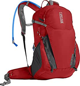 CamelBak Adult-Unisex Rim Runner 22 Backpack, Aura Orange/Charcoal, One Size, 2.5L