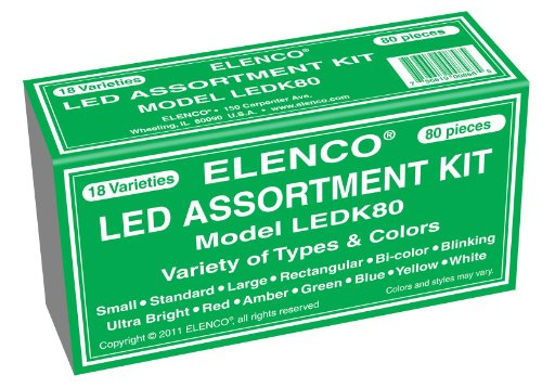 Elenco Electronics LEDK-80 80 pc LED Component Kit