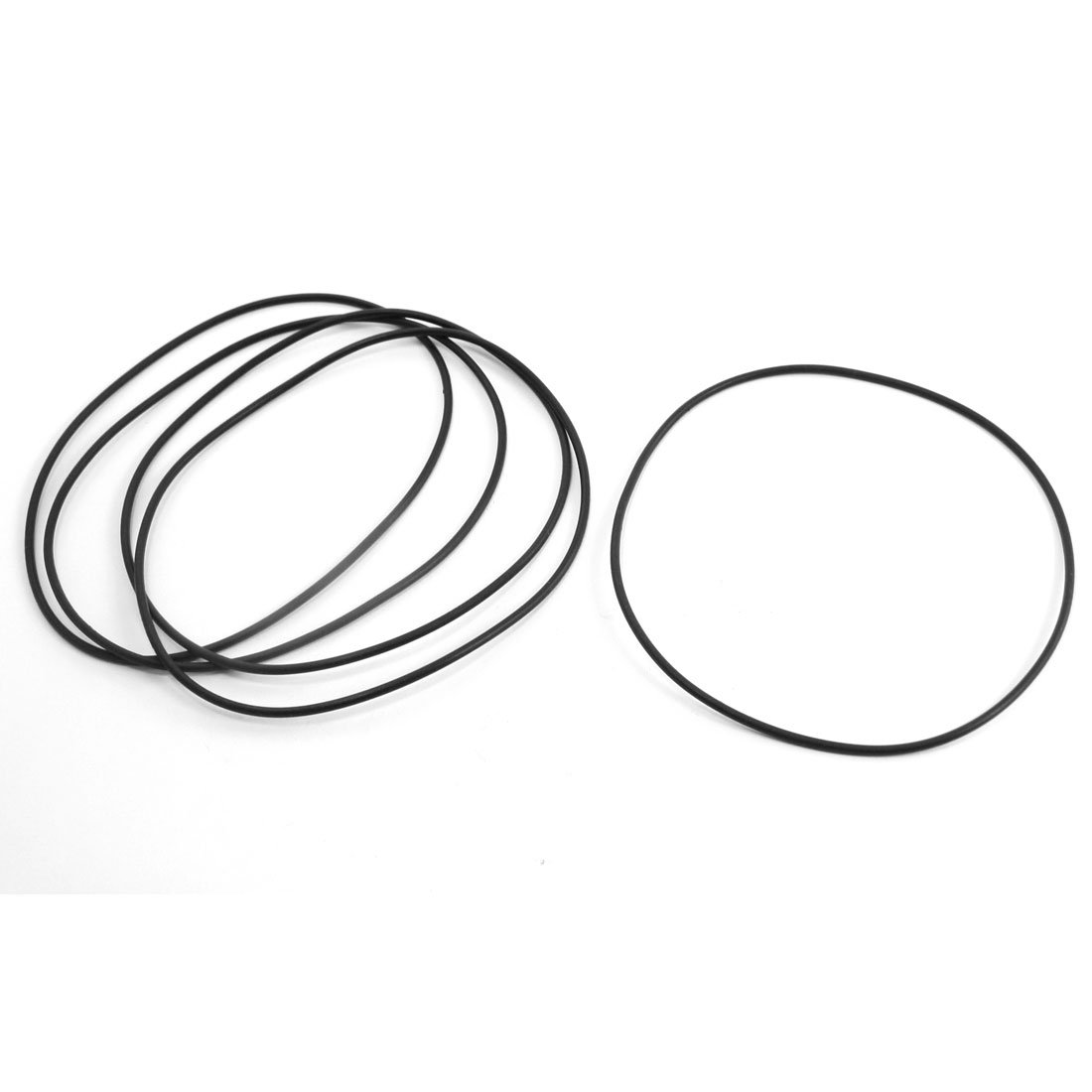 sourcingmap® 5 Pcs Replacement Flexible Rubber Oil Seal O Rings Gaskets 100mm x 2mm