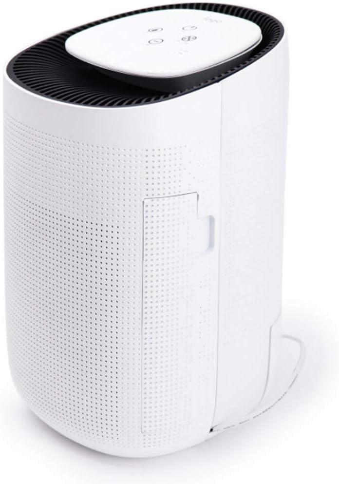 Deshumidificador Portátil para El Hogar Pequeño con Apagado Automático, Purificador De Aire - Recordatorio Completo De Agua, Tanque De Agua De 1L, Silencioso, Blanco: Amazon.es: Hogar