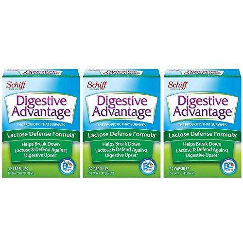 Digestive Advantage Lactose Defense  formula, 32 Capsules (Pack of 3)