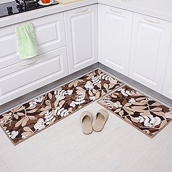 Amazon.de: LIUSHU Teppich Küche Matte lange Teppich Anti-Fett Home ...