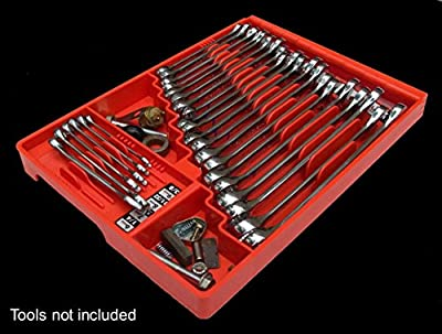 Tool Sorter Wrench Organizer - Red from Sky Leap LLC