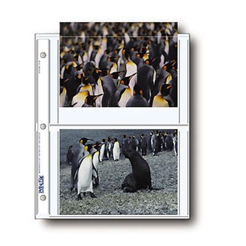 Print File Photo Pages Holds Four 5x7'' Prints, Pack of 500 by Print File