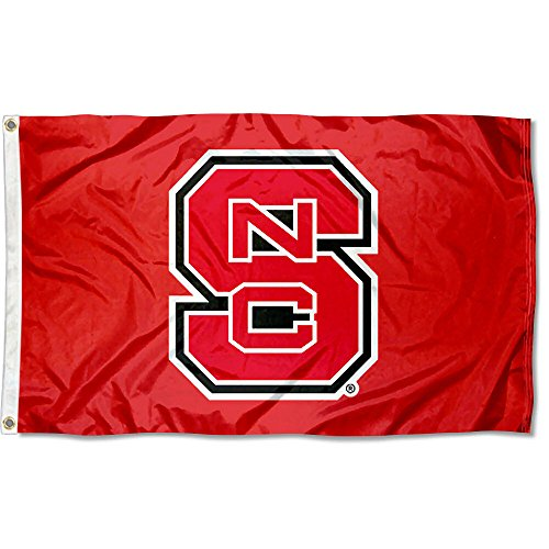 North Carolina State Wolfpack NC State University Large College Flag (State North Carolina Red University)