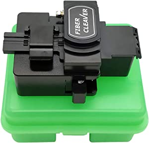 High Precision Optical Fiber Cleaver with 16 Cleaving Spots and 48000 Cleaves Fiber Cutter Tool with FTTH Fiber Holder for 0.25mm 0.9mm 3.0mm Coating Diameter Fiber
