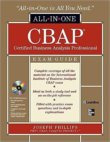 Cbap certified business analysis professional all in one exam guide cbap certified business analysis professional all in one exam guide with cdrom joseph phillips 9780071626699 amazon books fandeluxe Choice Image
