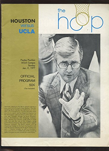 1977 Ncaa Basketball (Jan 2 1977 NCAA Basketball Program Houston At UCLA VGEX+)
