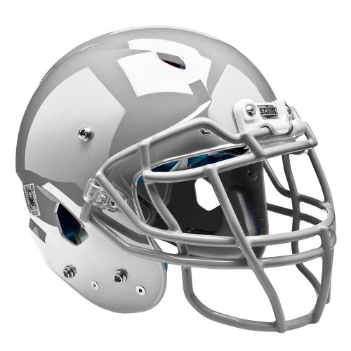 silver football helmet - 5