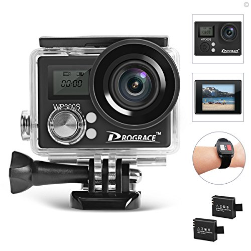 DROGRACE WP300S 4K WiFi Sports Action Camera, Ultra HD 16MP