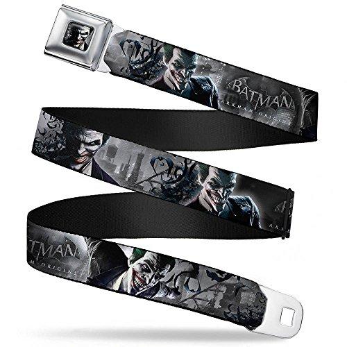 Batman Arkham Origins Joker Bats Grays Seatbelt Belt