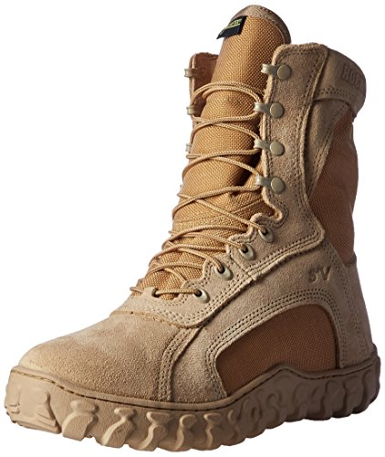 Rocky Men's 8 Inch S2v Cold Weather 101-1 Work Boot,Desert Tan,8 W (Ultra Wide Calf Boot)