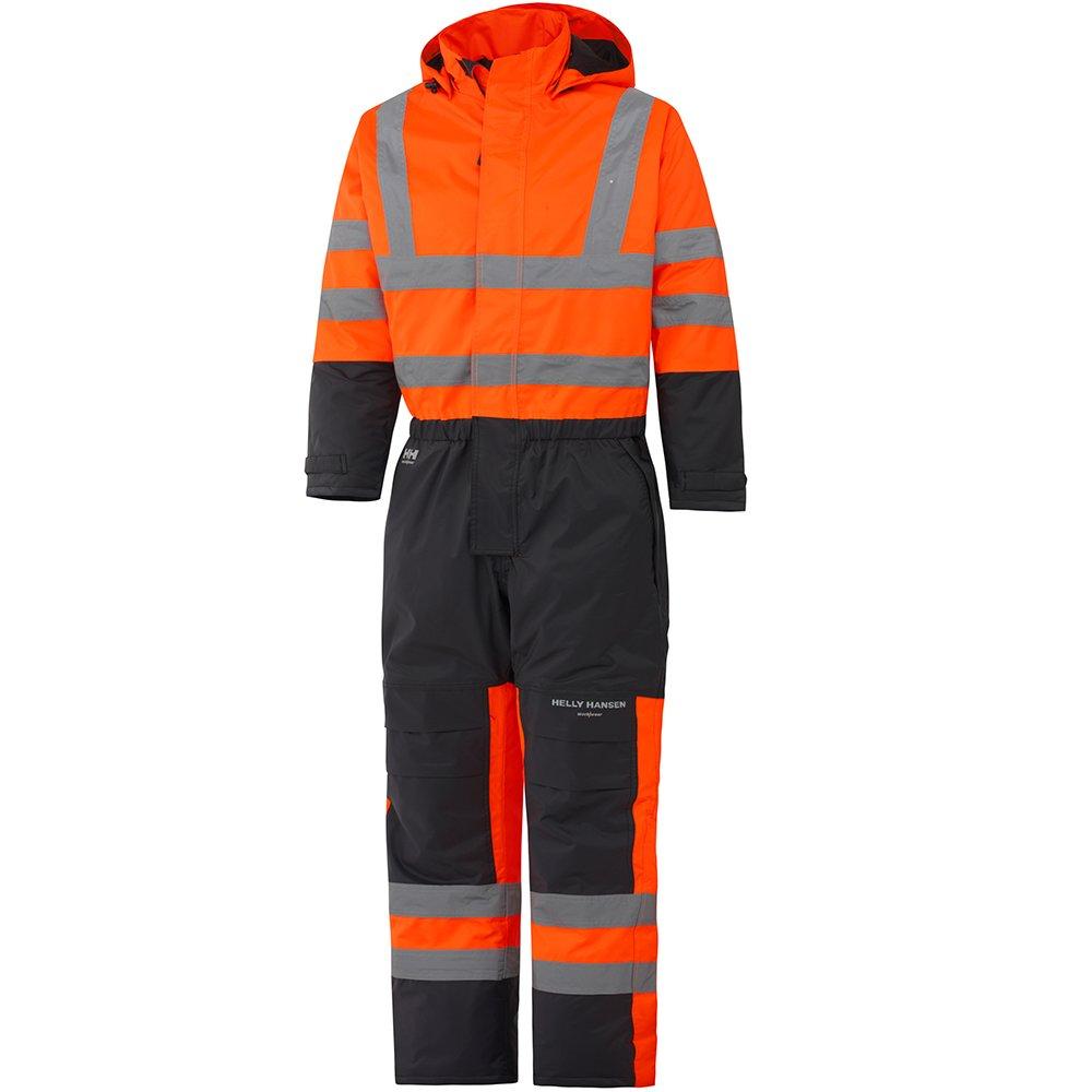 Helly Hansen Workwear Warnschutz Wetterschutz-Overall Alta Suit CL3 wasserdichter isolierter Winter-Arbeitsanzug 269 44, orange, 70665 70665_269-C44