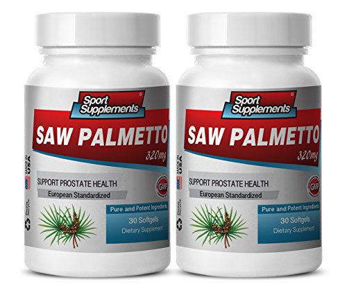 Saw palmetto supplements women - SAW PALMETTO BERRY EXTRACT 320 MG For Prostate and Urinary Tract Health - Prostate support with natural vitamins - 2 Bottles 60 softgels by Sport Supplements