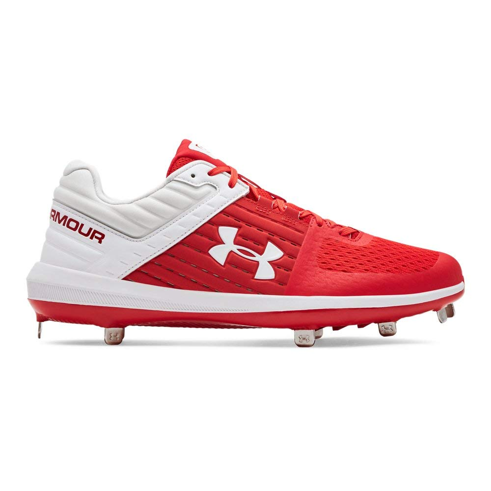 Under Armour Men's Yard Low ST Baseball Shoe, Red (601)/White, 6.5 by Under Armour