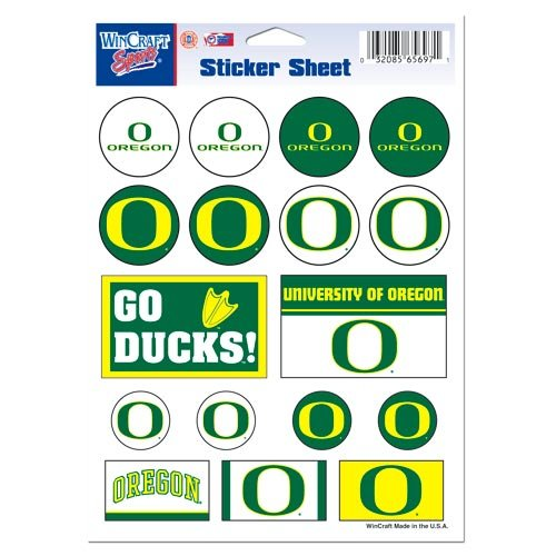 WinCraft NCAA University of Oregon Vinyl Sticker Sheet, 5