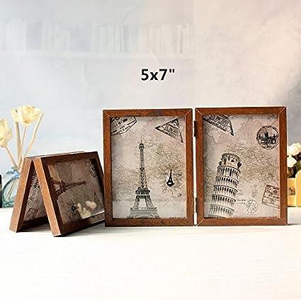 Amazon.com - leoyoubei Vintage Feel 2-Opening Hinged Collage Frame ...