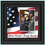 camouflage picture frame - Freedom Calls, Personalized Military Picture Frame, 10X10 6598 (10x10, Black1)