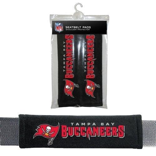 Fremont Die Sports Team Logo Tampa Bay Buccaneers Seat Belt Pad 2 Pack by Fremont Die