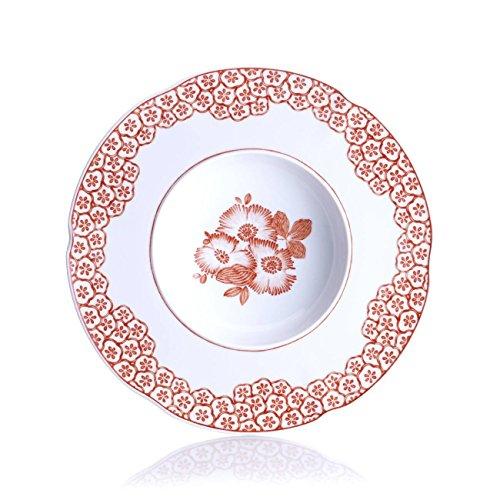 Vista Alegre Coralina Rimmed Soup Plate, Set of 4 (Vista Soup Rimmed Bowl)