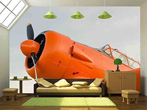 Adventure in the sky Old airplane orange North American T 6G Texan