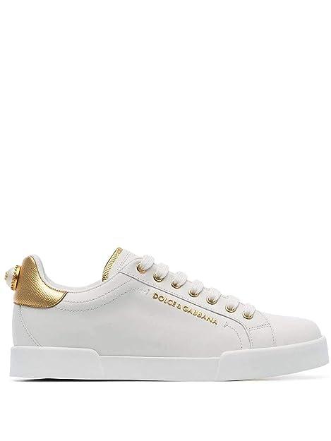 Dolce E Gabbana Sneakers Donna CK1602AN2988B996 Pelle Bianco