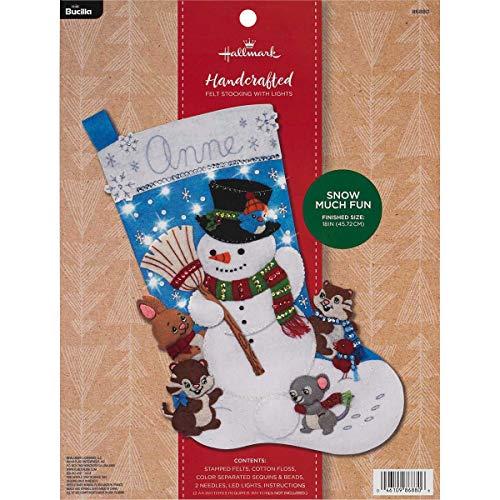 Bucilla 86880 Hallmark Felt Stocking Kit, 18