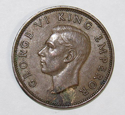1941 NZ New Zealand Half Penny 1/2c XF (Penny Half Rare)