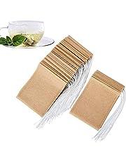 200 Pcs Tea Filter Bags Tea Bags for Loose Tea Unbleached Paper Tea Infusers Sachet de thé thé infuseur (Unbleached, 2.75in*3.54in(7cm*9cm))