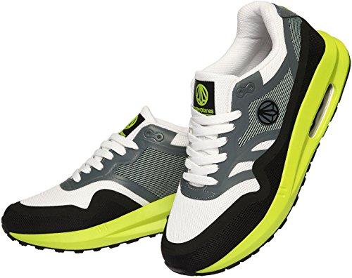Paperplanes-1331 Cuscino Daria Alla Moda Unisex Alto Sneakers Scarpe Grigio Nero Verde