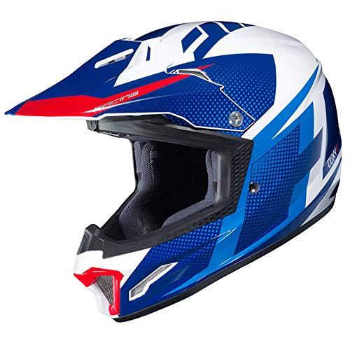Price comparison product image HJC Unisex Child Off-Road Helmet (Blue / White / Red,  LG)