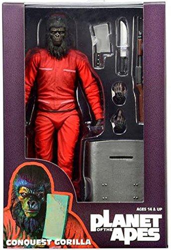 NECA Planet of the Apes Classic Series 3 General Aldo Caesar /& Conquest Gorilla Exclusive 7 Bundle Set of 3 Action Figures