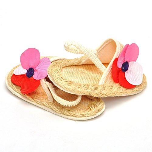 Bebé Niña Zapatos de verano infantil Sandalias tamaños de US, - caqui, 7-12 Months - caqui
