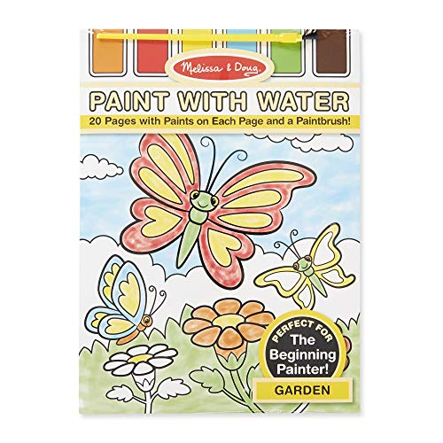 Melissa & Doug Paint With Water Activity Set - Garden (20 Pages)