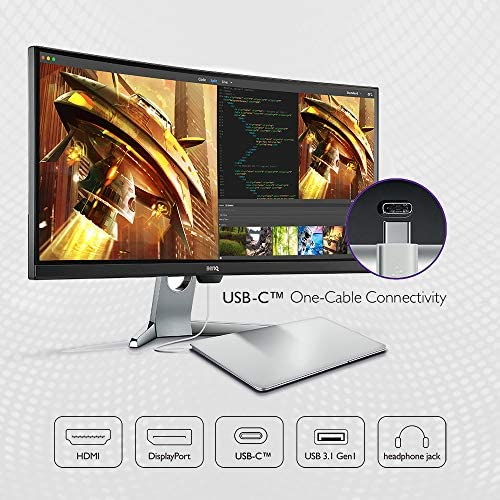 BenQ EX3501R 21:9 Ultrawide Curved QHD Monitor | 34 inch elegance (35 Inch) | HDR (3440 X 1440) | eye-care Tech | 100 Hz Refresh Rate and FreeSync for Gaming