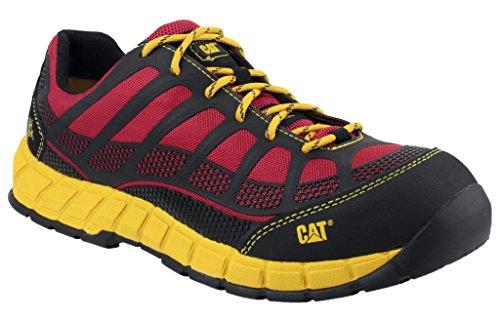 Diseño de gato Streamline S1P para hombre de zapato de suela exterior de goma de protectores de calcetines para de seguridad/sintética reloj para hombre de trabajo cubiertos de para rojo - rojo