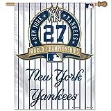 MLB New York Yankees 77679091 Vertical Flag, Small, Black