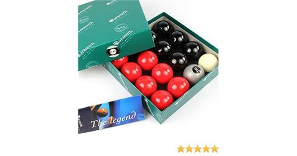 EXCLUSIVA! Aramith Premier SILVER 8 BALL edición rojo y negro bolas de billar: Amazon.es: Deportes y aire libre