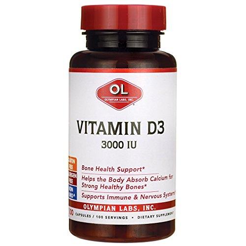 Olympian Labs Vitamin D3 -- 3000 IU - 100 Capsules