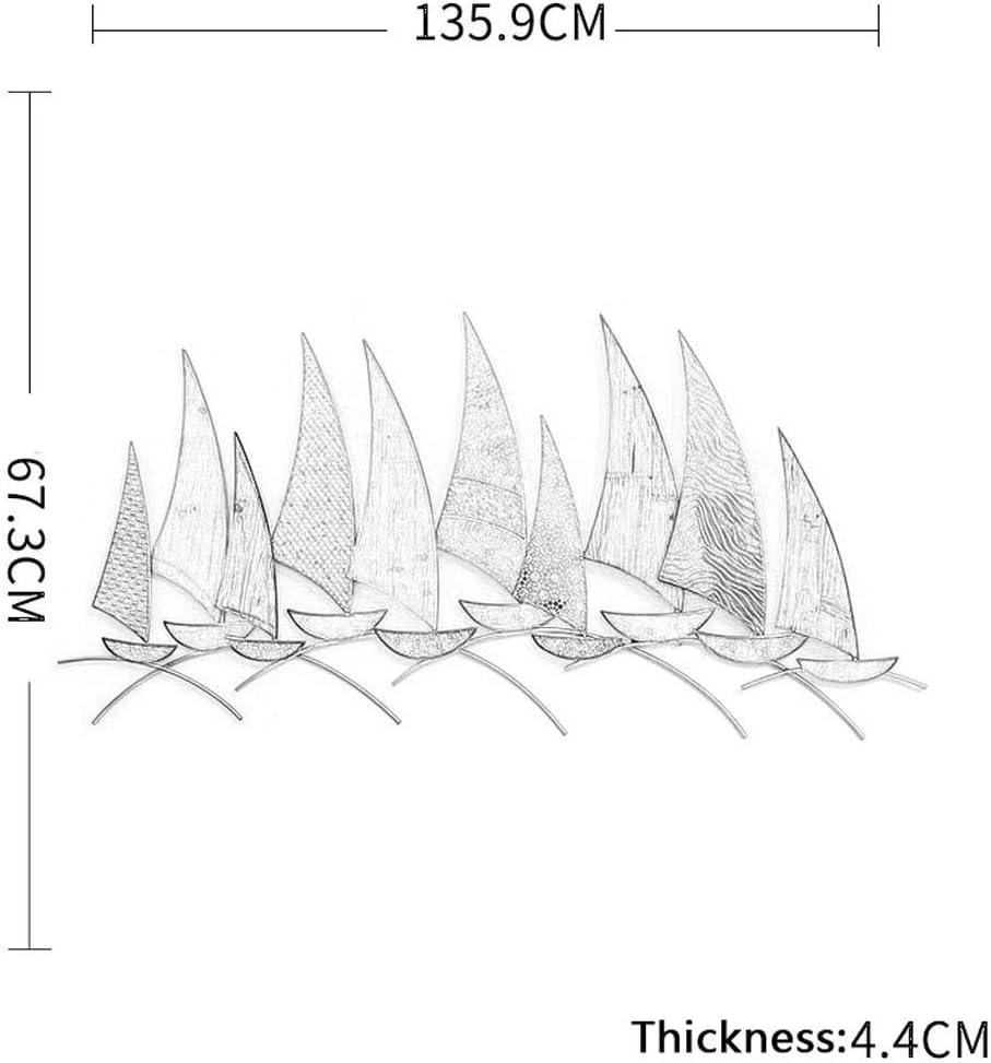 Barco Mediterr/áneo Hierro Madera Combinado Mural Moderno JSBVM Escultura de Pared de Metal decoraci/ón de Paredes