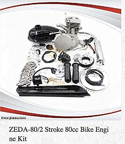CDHPOWER 2 stroke gas bicycle engine kit Square Type//Black-Super PK80-66cc//80cc