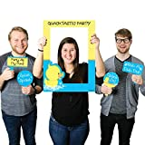 Big Dot of Happiness Ducky Duck - Birthday Party or Baby Shower Selfie Photo Booth Picture Frame & Props - Printed on Sturdy Material
