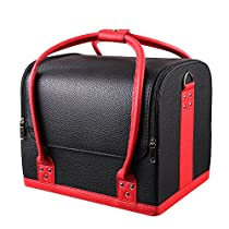 MVPOWER Professional Large Removable PU Leather Cosmetic Makeup Vanity Box Jewelry Saloon Case Bag