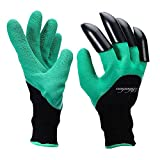 Garden Genie Gloves,Rihachan Genie Gloves With Claws for Digging & Planting ,Gardening Gloves as Seen on TV (1-pair, green)