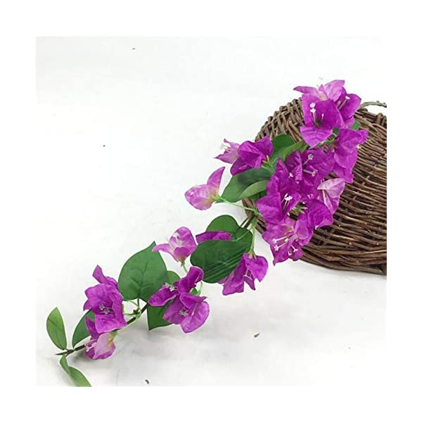 jiumengya 10pcs Silk Bougainvillea Glabra Climbing Bougainvillea Flower Artificial Bougainvillea Tree Branches 31.5″ six Colors for Wedding Centerpieces (Fuchsia)