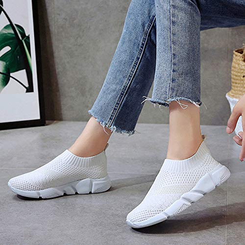 Frauen Up Sonnena Schuhe Mode Schuhe Damen Sexy Light Sneaker Gym Knöchel Ultra Damen Weiß Turnschuhe Outdoor Flat Joggingschuhe Bequem Lace Laufschuhe Trainer YBHEt