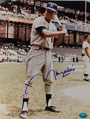 Maury Wills Los Angeles Dodgers Autographed 8x10 MLB Signed Photo 17I Autographed Dodgers 8x10 Photo